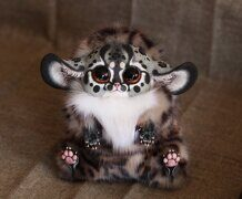 Inari Fox: Serval red eyes